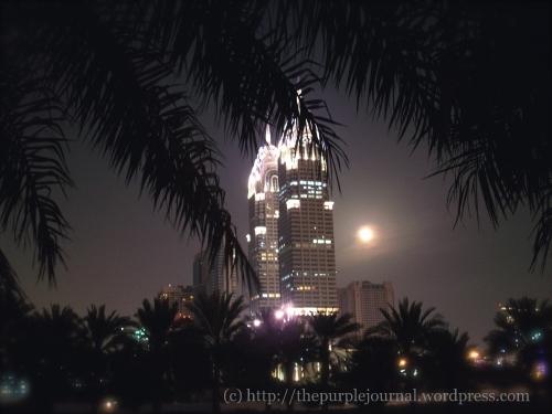 full moon in Dubai