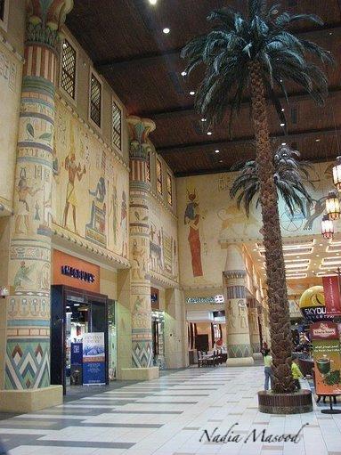 Walking through ancient Egypt.
