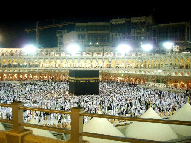 It got crowded just after Fajr prayers.
